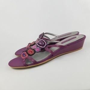 🌹Bandolino Beaded Slingback Heels Sandals 10 EUC